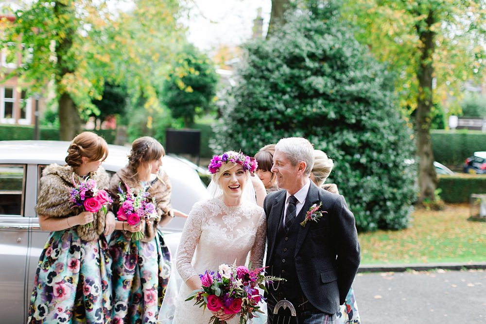 Autumn wedding Glasgow,Be eventful,Cat Robertson Make up,Fine Art Wedding Photographers Glasgow,Floral Menagerie,Floral crown bride,Maxwell Park,The Gibsons,natural wedding photographers,natural wedding photographers Scotland,wedding Pollokshields Burgh Halls,