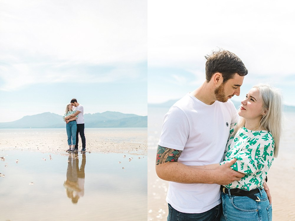 The Gibsons,beach engagement shoot scotland,engagement shoot Scalpsie beach,engagement shoot isle of bute,romantic photographers Scotland,visit scotland,