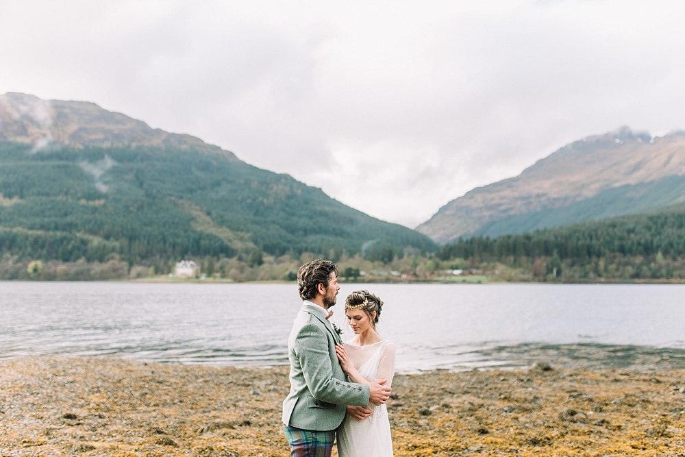 Romantic windswept Elopement in Scotland