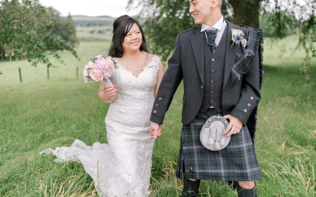 Sunny & Christopher marry at Cornhill Castle