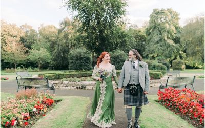 The bride who wore a green dress