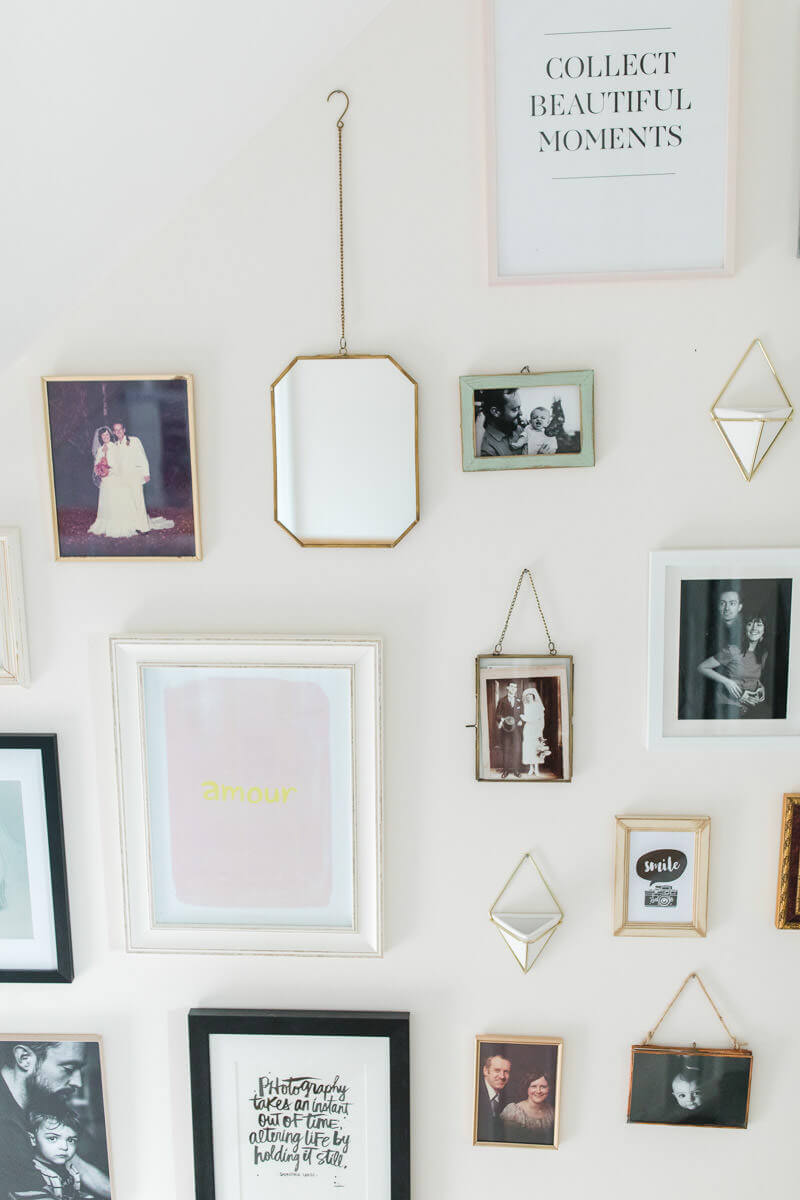 Display your family photos on the walls of your home with pride