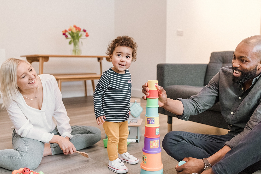 Fun Glasgow in-home family session